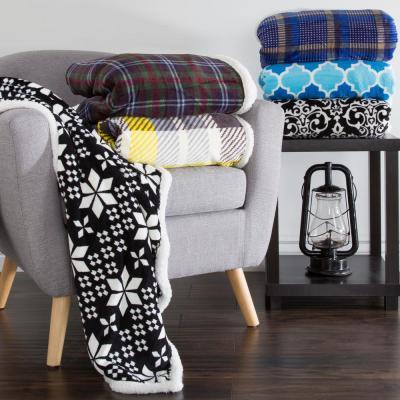 Fleece/Sherpa Polyester Throw Blanket