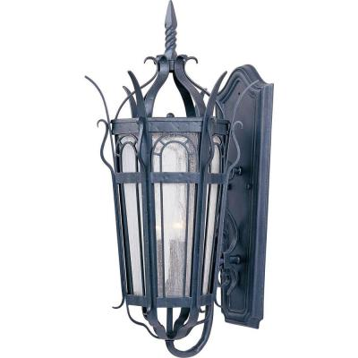 Filament Design Infinite Wall-Mount 3-Light Outdoor Country Forge Incandescent Lantern