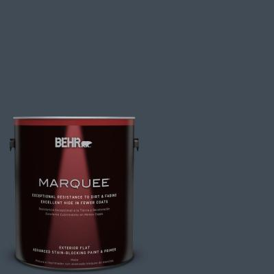 BEHR MARQUEE 1-gal. #QE-56 Club Navy Flat Exterior Paint