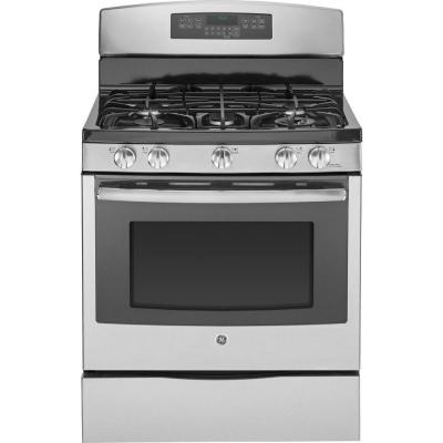 GE Profile 5.6 cu. ft. Gas Range with Self-Cleaning Convection Oven in Stainless Steel