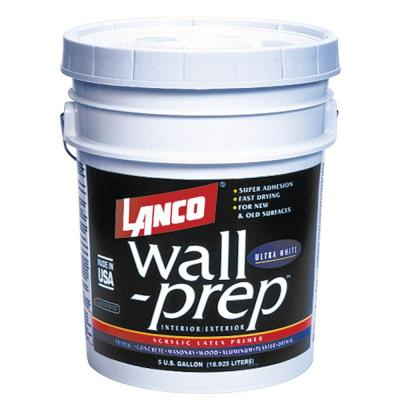 Lanco Wall Prep 5 Gal Acrylic Latex Ultra White Interior Exterior Primer Wp823 2 The Home Depot