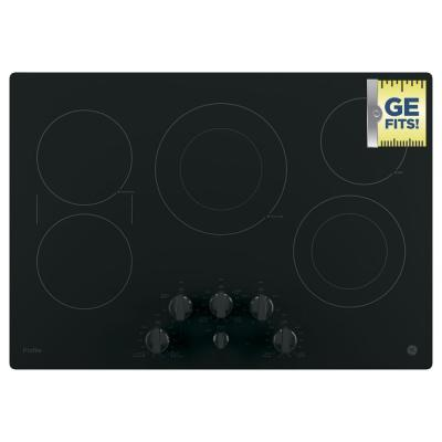 Profile 30 in. Radiant Electric Cooktop in Black with 5 Elements