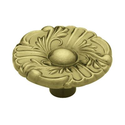 Liberty 1-1/2 in. Antique Brass Provincial Round Cabinet Knob