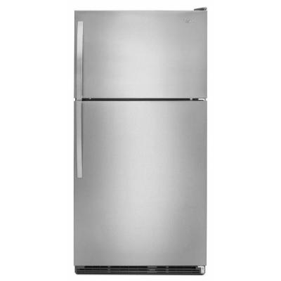 Whirlpool 20.6 cu. ft. Top Freezer Refrigerator in Monochromatic Stainless Steel-DISCONTINUED
