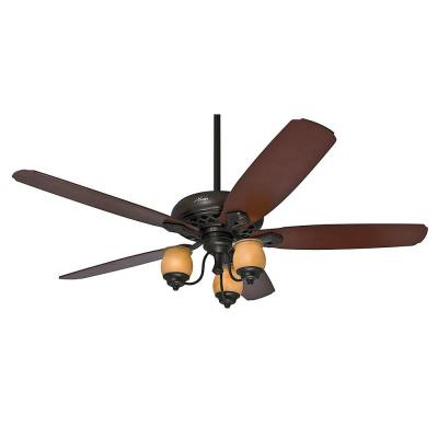 Torrence 64 in. Indoor Provence Crackle Ceiling Fan