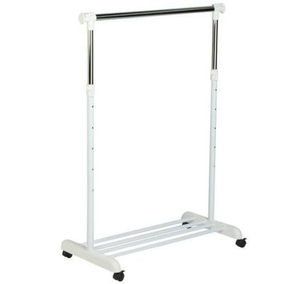 Honey-Can-Do Garment Rack with Wheels in Chrome/White