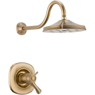 Addison TempAssure 17T Series 1-Handle Shower Faucet Trim Kit Only in Champagne Bronze (Valve Not Included) Product Photo
