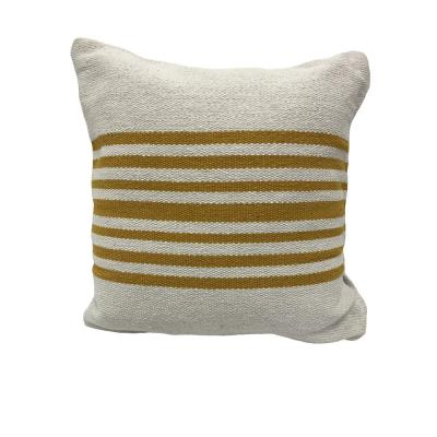 Bold Striped Soft Poly-Fill 22 in. x 22 in. Throw Pillow