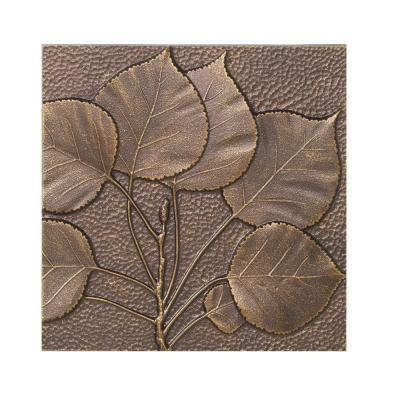 Whitehall Products 8 in. Aspen Leaf Aluminum Wall Decor