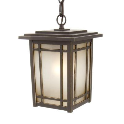 Home Decorators Collection Port Oxford 1-Light Outdoor Oil Rubbed Chestnut Hanging Mount Lantern