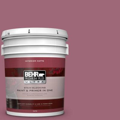 5 gal. #100D-5 Berries and Cream Flat/Matte Interior Paint