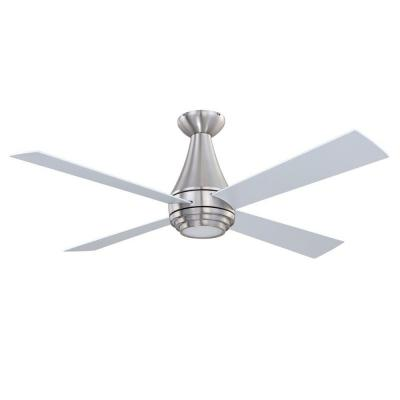 Designers Choice Collection Novo 50 in. Satin Nickel Ceiling Fan