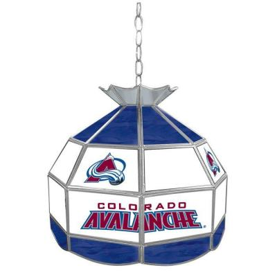 Trademark Global NHL Colorado Avalanche 16 in. Stained Glass Billiard Hanging Tiffany Light NHL1600-CA