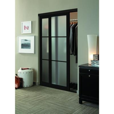 Eclipse 3 Lite Anodized Aluminum Duratuf Tempered Mystique Safety Glass Interior Sliding Door