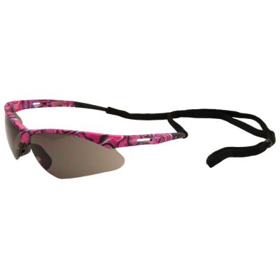 ERB Annie Ladies Eye Protection, Pink Camo/Gray Lens