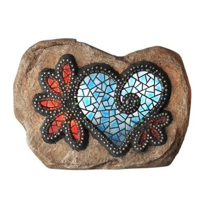 Chris Emmert Designs 7 in. Outdoor Polyresin LED Hearts and Flowers Product Photo