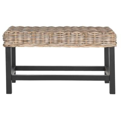 Omari Wicker Bench in Natural Product Photo