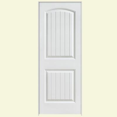 28 in. x 80 in. Solidoor Cheyenne Smooth 2-Panel Solid Core Composite Single Prehung Interior Door Product Photo