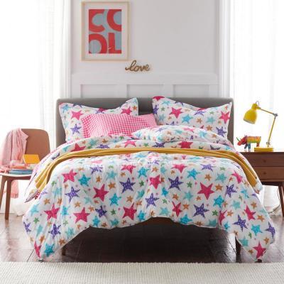 Bright Stars Graphic Organic Cotton Percale Comforter