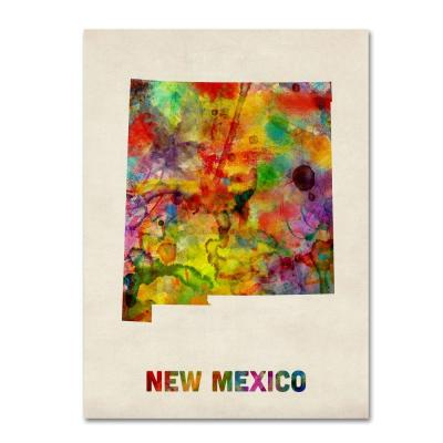 Trademark Fine Art 24 in. x 32 in. New Mexico Map Canvas Art