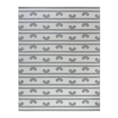 Disney Mickey Mouse Peek A Boo Striped Indoor/Outdoor Area Rug