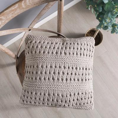 Crochet 18 in. x 18 in. Throw Pillow