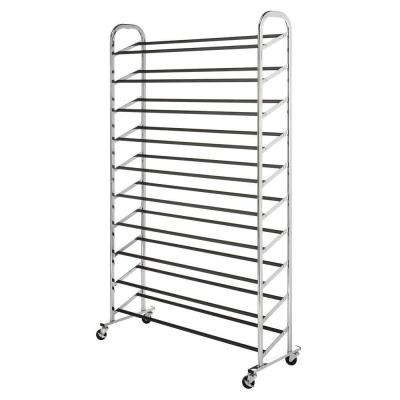 Whitmor Deluxe Rack Collection 36.50 in. x 59.5 in. 50-Pair Chrome Shoe Tower
