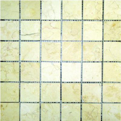 MS International 2 In x 2 In Luxor Gold Limestone Mosaic Floor & Wall Tile THDW1-SH-LX2x2
