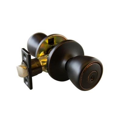 Terrace Oil Rubbed Bronze Entry Knob with Universal 6-Way Latch