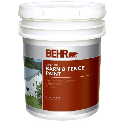 BEHR 5-gal. White Exterior Barn and Fence Paint