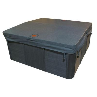 90 in. x 90 in. Square Spa Cover in Grey (5 in. x 3 in. Taper) Product Photo