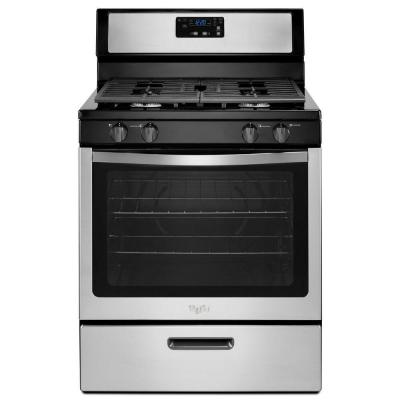 Whirlpool Wfg320M0Bs Whirlpool 30-Inch 5.1 Cu. Ft. Single Oven Free-Standing Gas Range  Stainless