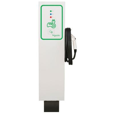 Schneider Electric EVlink 30 Amp Level-2 Outdoor Single Unit Pedestal Electric Vehicle Charging Station with RFID Access