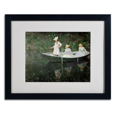 16 in. x 20 in. The Boat at Giverny Matted Black