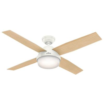 Dempsey 52 in. LED Indoor Fresh White Ceiling Fan