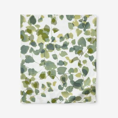 Legends Hotel Greenery Cotton and TENCEL Lyocell Multicolored Sateen Flat Sheet
