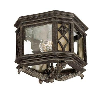 Acclaim Lighting Florence Collection Ceiling-Mount 2-Light Outdoor Black Coral Light Fixture-DISCONTINUED