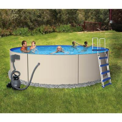 Rugged Round Above Ground Pool Package 48 in. Deep