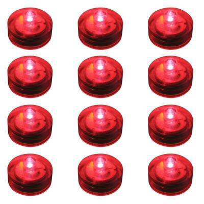 Lumabase Red Submersible LED Lights (Box of 12)