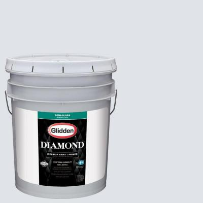 5 gal. #HDGV30 Ming Dynasty White Semi-Gloss Interior Paint with Primer