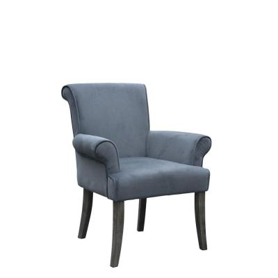 Calla Microfiber Side Chair in Charcoal Product Photo