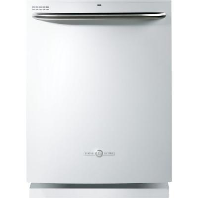 GE Artistry Top Control Dishwasher in White with Steam PreWash