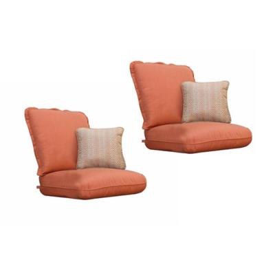 Thomasville Messina Canvas Paprika Replacement Club Chair Cushion and Outdoor Throw Pillow Set (2-Pack)