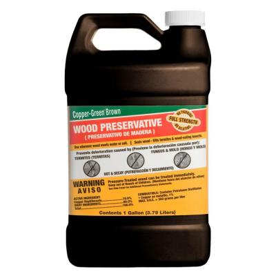 null Copper-Green 1-gal. Brown Wood Preservative