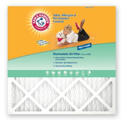 18 in. x 18 in. x 1 in. Odor, Allergen & Pet Dander Control Air Filter (4-Pack) Product Photo