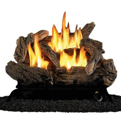 ProCom 18 in. Vent-Free Dual Fuel Gas Fireplace Logs