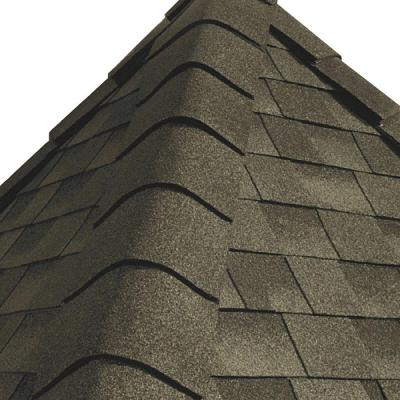 GAF Timbertex Weathered Wood Hip and Ridge Shingles (20 linear ft. per Bundle)