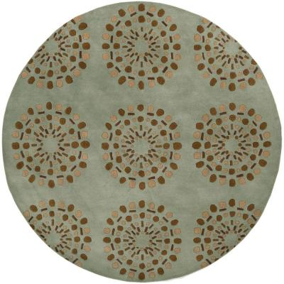 Gibbon Spa Blue 8 ft. Round Area Rug