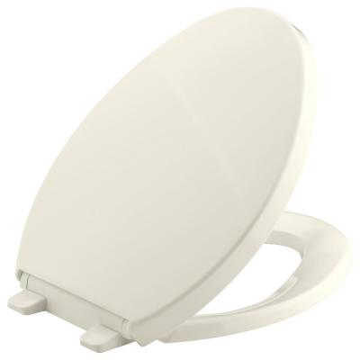 Saile Elongated Closed Front Toilet Seat in Biscuit