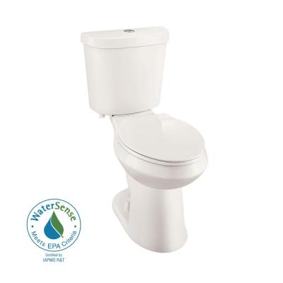 Glacier Bay 2-piece 1.1 GPF/1.6 GPF High Efficiency Dual Flush Elongated Toilet in Biscuit